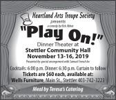 Heartland Arts Troupe Society presents a comedy by Rick Abbott