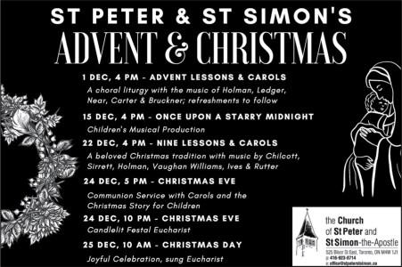 St. Peter & St. Simon's Advent & Christmas