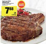 CLUB SIZE Beef Cap-Off Rib Grilling Steak