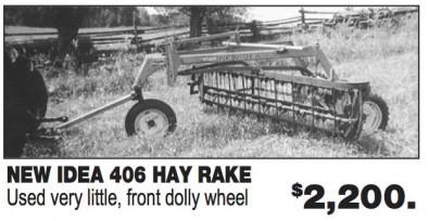 NEW IDEA 406 HAY RAKE