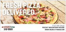 FRESH PIZZA. DELIVERED.