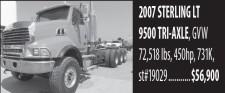 2007 STERLING LT 9500 TRI-AXLE
