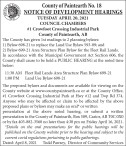 NOTICE OF DEVELOPMENT HEARINGS