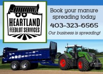 Book your manure spreading today with HEARTLAND FEEDLOT SERVICES