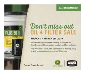 Don't miss out on the Cervus oil & filter sale