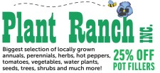 25% OFF POT FILLERS at the Plant Ranch