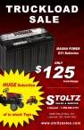 Stoltz Sales & Service Truckload Sale
