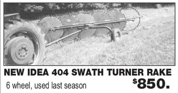New Idea 404 Swath Turner Rake