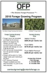2018 Forage Growing Program