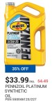 Pennzoil Platinum Synthetic oil
