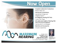 MAXIMUM HEARING Now Open