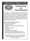 Experienced Dozer and Track Hoe Operators wanted