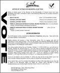 NOTICE OF VOTING 2018 MUNICIPAL ELECTION