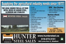 Hunter Steel: Supplying the agricultural industry needs since 1977!