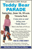 Kincardine's 24th Annual Teddy Bear PARADE