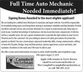 Full Time Auto Mechanic Needed Immediately!
