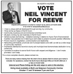 IN NORTH HURON VOTE NEIL VINCENT FOR REEVE