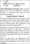 Grove-McClement & Fischer is hiring