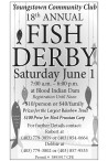 Youngstown Community Club 18th ANNUAL FISH DERBY