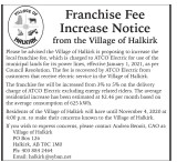 Franchise Fee Increase Notice