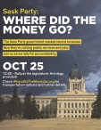 Sask Party: WHERE DID THE MONEY GO?