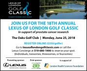 LEXUS OF LONDON GOLF CLASSIC in support of prostate cancer research
