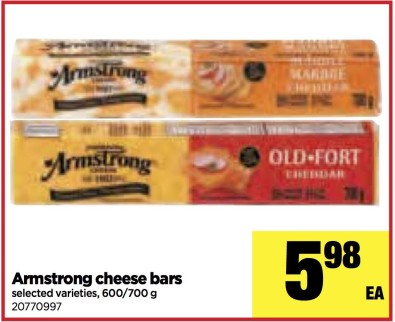 Armstrong cheese bars