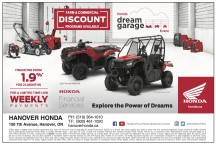 FARM & COMMERCIAL DISCOUNT PROGRAMS AVAILABLE at Hanover Honda