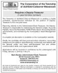 Deputy-Treasurer Required