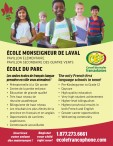 The only French first language schools in town! Register your child right now!