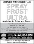 SPRAYER WINTERIZER FLUID SPRAY FROST ULTRA Available in Totes and Drums