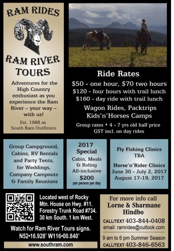 2017 Special  Cabin, Meals & Riding All-inclusive $200 per person per day