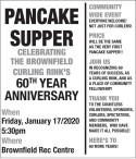 CELEBRATING THE BROWNFIELD CURLING RINK'S 60TH YEAR ANNIVERSARY