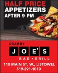 Crabby Joe's Bar Grill Half price appetizers