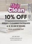 SPRING CLEANING PACKAGES with Miss'es Clean