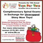 In Line Family Chiropractic Presents the 15th Annual Toys for Tots