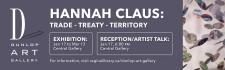 DUNLOP ART GALLERY presents HANNAH CLAUS