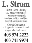L. Strom Custom Corral Cleaning