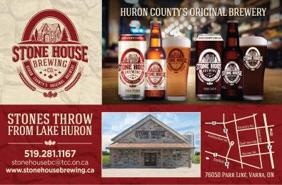 STONE HOUSE BREWING CO. HURON COUNTY'S ORIGINAL BREWERY